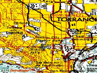 Lomita topographic map