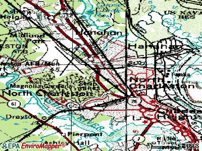 North Charleston topographic map