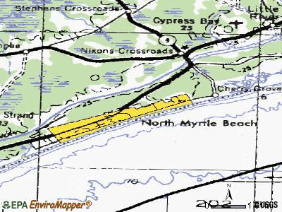 North Myrtle Beach topographic map