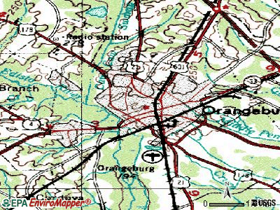 Orangeburg topographic map