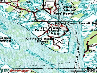Parris Island topographic map