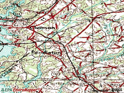 Pendleton topographic map