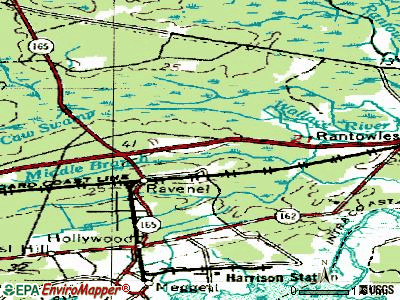 Ravenel topographic map