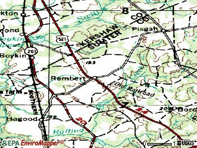 Rembert topographic map