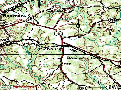 Richburg topographic map