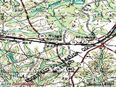 Ridge Spring topographic map