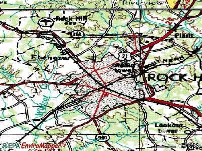Rock Hill topographic map