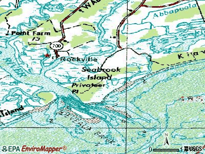 Seabrook Island topographic map