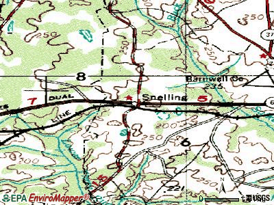 Snelling topographic map