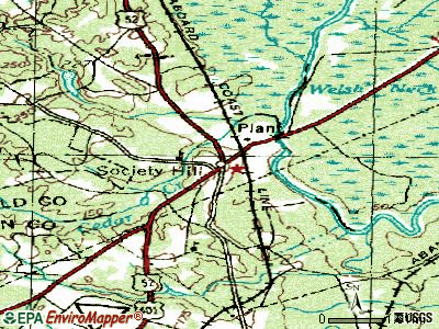 Society Hill topographic map