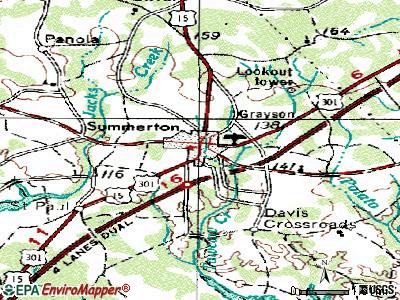Summerton topographic map