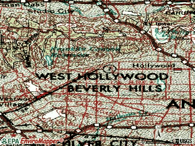 Los Angeles topographic map