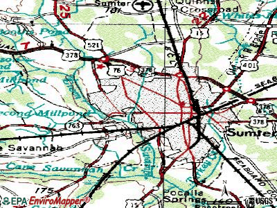 Sumter topographic map
