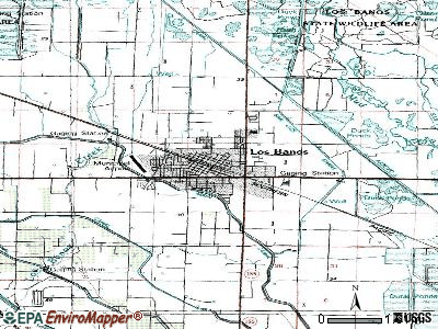 Los Banos topographic map