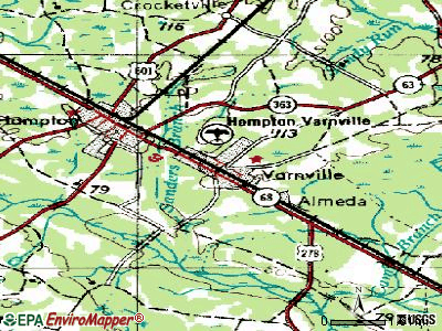 Varnville topographic map