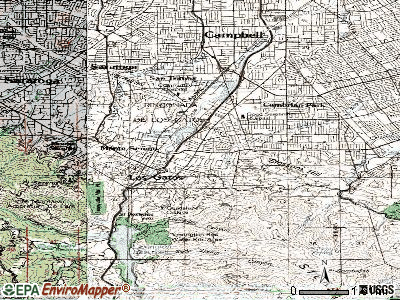 Los Gatos topographic map