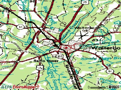 Walterboro topographic map