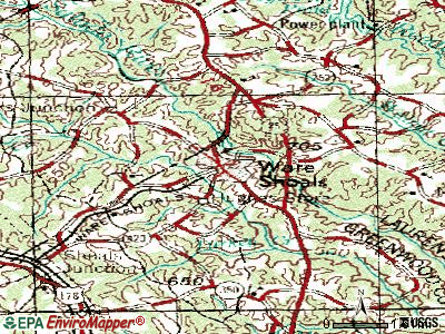 Ware Shoals topographic map
