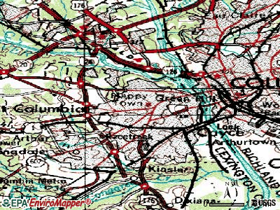 West Columbia topographic map