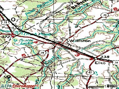 Williston topographic map