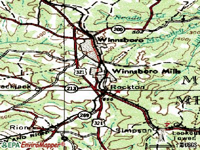 Winnsboro Mills topographic map