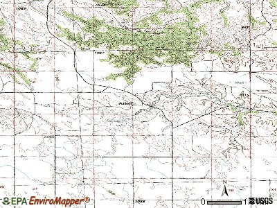 Allen topographic map