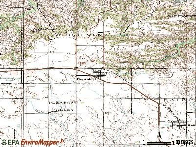 Bonesteel topographic map