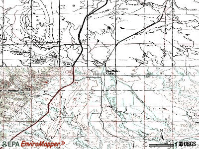 Buffalo Gap topographic map