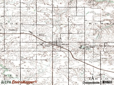 Burke topographic map