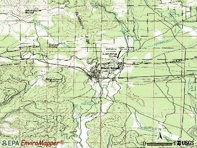 McCloud topographic map