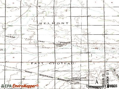 Delmont topographic map