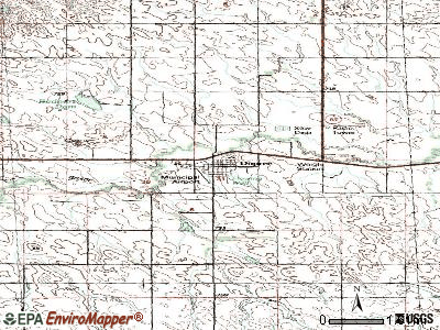 Dupree topographic map