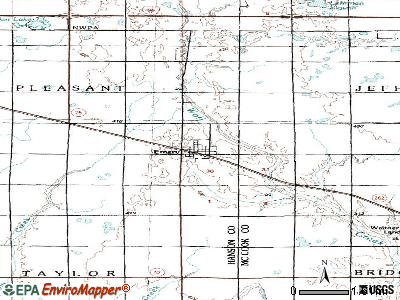 Edgemont topographic map