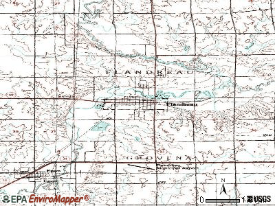 Flandreau topographic map