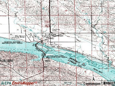 Fort Thompson topographic map