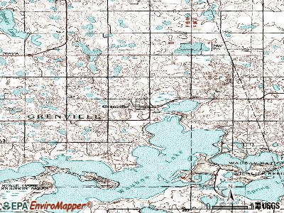 Grenville topographic map