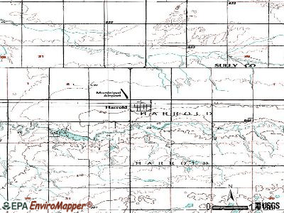 Harrold topographic map