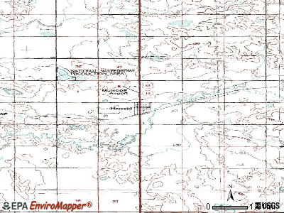 Herreid topographic map
