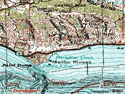 Malibu topographic map