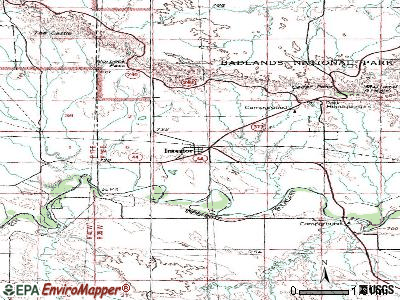Interior topographic map