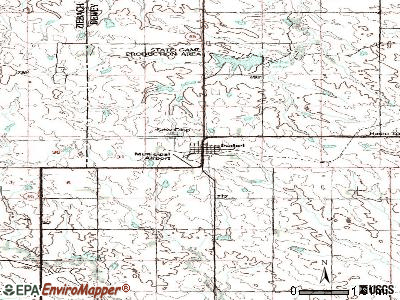 Isabel topographic map