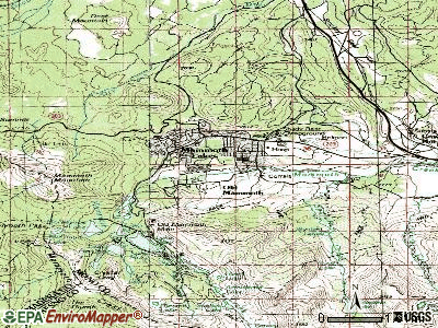 Mammoth Lakes topographic map