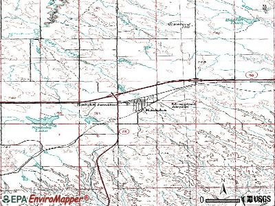 Kadoka topographic map