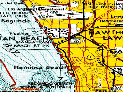 Manhattan Beach topographic map