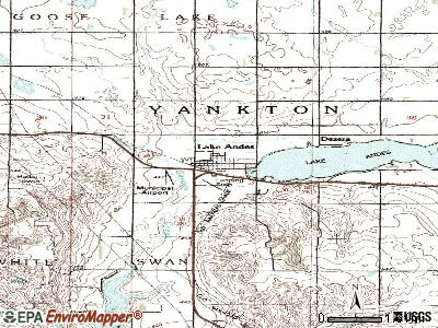 Lake Andes topographic map