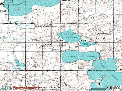 Lake Norden topographic map