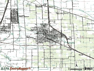 Manteca topographic map