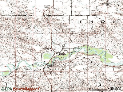 Little Eagle topographic map