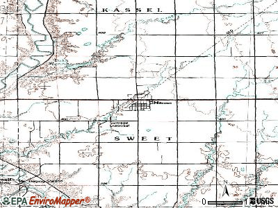 Menno topographic map