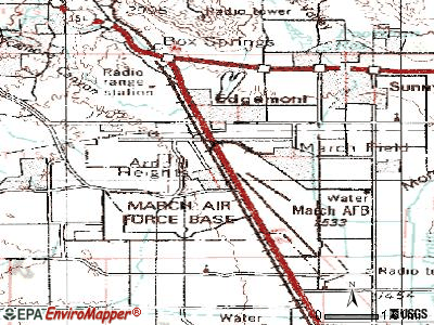 March AFB topographic map